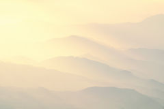 Pattern Of Distant Misty Mountains Royalty Free Stock Photos
