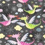 Pattern Of Dragons Royalty Free Stock Image