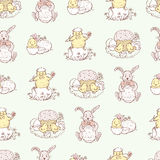 Pattern Of Easter Pictures Stock Photography