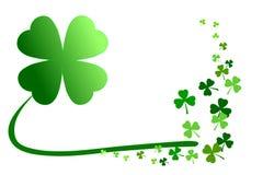 Free Pattern Of Green Shamrocks, 4-leaf Clover Among 3-leaf; Isolated On White Background. Vector Illustration. Royalty Free Stock Photography - 111858287