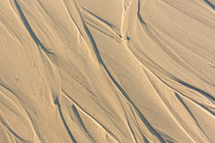 Pattern Of Sand After Low Tide At Beach. Abstract Background. Royalty Free Stock Photo