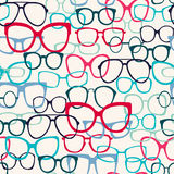 Pattern Of Sunglasses Silhouettes Royalty Free Stock Images