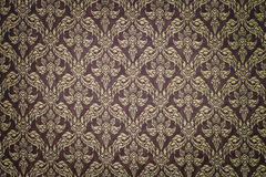 Pattern Of Thai Hand Made Fabric Royalty Free Stock Photo