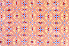 Pattern Of Thai Silk Fabric Royalty Free Stock Photography