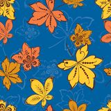 Pattern Of The Decorative Autumn Leaves Royalty Free Stock Photography
