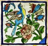 Pattern Of Vintage Persian Ceramic Tile Royalty Free Stock Image