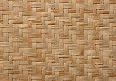 Pattern Of Woven Bamboo Texture Stock Image