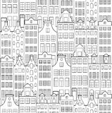 Pattern with old building Royalty Free Stock Images