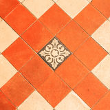 Pattern of Old Clay Tiles. Pattern of Old Terracotta Tiles Stock Image