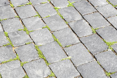 Pattern of old cobble stone road Royalty Free Stock Photo