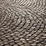 Pattern of old cobble stone street Stock Images