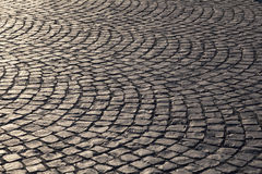 Pattern of old cobble stone street Stock Photo