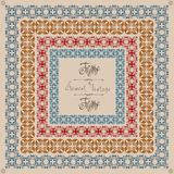 Pattern old cross vintage square frame Stock Images