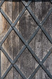 Pattern Old forging grille door Stock Image