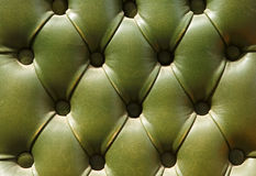 Pattern of old green leather upholstery texture Royalty Free Stock Photos
