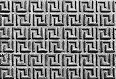 Pattern on an old iron surface. Top of view. Black and white photography. Pattern on an old iron surface. Top of view royalty free stock images