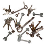 Pattern of old keys Stock Images