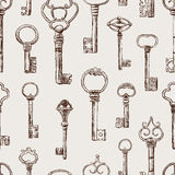 Pattern of the old keys Royalty Free Stock Photography