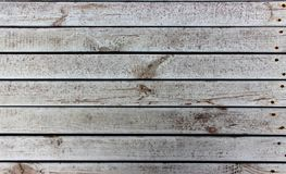 Pattern of an old rough dirty gray wooden boards with rusty nails royalty free stock photo