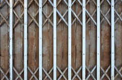 Pattern of old steel folded door leaf Royalty Free Stock Photos