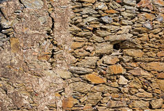 Pattern of Old Stone Wall Surface Stock Photos