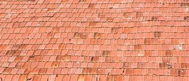 Pattern of the old tiles roof of house, Texture background stock photo