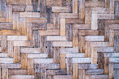 Pattern of old Thai style bamboo handcraft background Royalty Free Stock Images