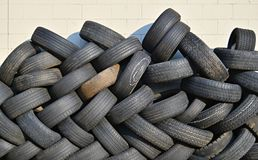 Old tires recycling Royalty Free Stock Images