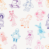Pattern of old toys Royalty Free Stock Photos