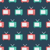 Simple vector illustration with ability to change. Pattern with old TV. Pattern with old TV. Simple vector illustration with ability to change vector illustration