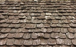 Pattern of the old woden roof Royalty Free Stock Photography