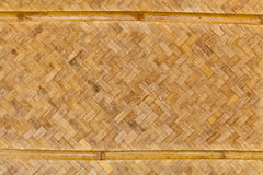 The pattern of the old woven bamboo wall Royalty Free Stock Photo