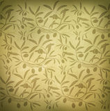 Pattern olive branch Royalty Free Stock Photos