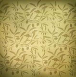 Pattern olive branch. On vintage paper Royalty Free Illustration