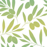 Pattern olive branch on vintage paper Royalty Free Stock Photo