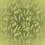 Pattern olive branch on vintage paper Royalty Free Stock Image