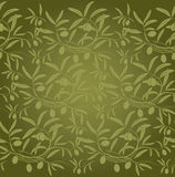 Pattern olive branch on vintage paper Stock Photo