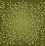 Pattern olive branch on vintage paper. Decorative olive branch.For label, pack Royalty Free Illustration
