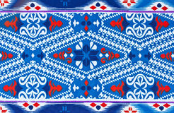 Pattern On The Fabric Of The Sarong Stock Photography