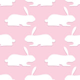Pattern with opposite rabbits Royalty Free Stock Image