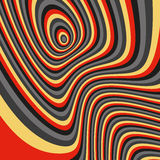 Pattern with optical illusion. Abstract background. Optical art. 3d  illustration Stock Photography