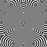 Pattern With Optical Illusion. Abstract Background. Optical Art. 3d Vector Illustration Royalty Free Stock Image