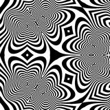 Pattern With Optical Illusion. Abstract Background. Optical Art. 3d Vector Illustration Stock Photography
