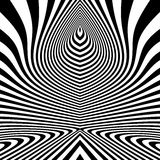 Pattern With Optical Illusion. Abstract Background. Optical Art. 3d Vector Illustration.  Stock Images