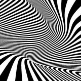 Pattern with optical illusion. Black and white Stock Photos