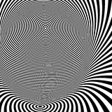 Pattern with optical illusion. Black and white Royalty Free Stock Photo