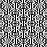Pattern - Optical illusion with geometric drawing Royalty Free Stock Image