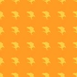 Pattern orange background Halloween raven Royalty Free Stock Photography