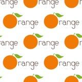 Pattern with orange logo Royalty Free Stock Photo