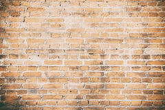 Pattern of orange old brick wall texture background stock photo
